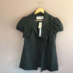 Trina Turk Zen Charcoal Wool Silk Blend Blouse 4